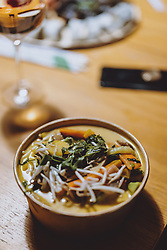THEMENBILD - Suppe von einem Restaurant nach Hause geliefert, aufgenommen am 05. Feber 2021 in Kaprun, Österreich // Soup delivered from a restaurant at home, Kaprun, Austria on 2021/02/05. EXPA Pictures © 2021, PhotoCredit: EXPA/ JFK