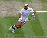Lawn Tennis - 2021 All England Championships - Week Two - Friday - Wimbledon<br /> Mens Semi Final - Matteo Berrettini v Hubert Hurkacz<br /> <br /> Matteo Berrettini of Italy<br /> <br /> <br /> Credit : COLORSPORT/Andrew Cowie