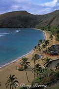 Hanauma Bay, beach empty, 7:30 A.M. Sunday<br /> Oahu, Hawaii, USA ( Pacific )