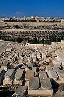 Israel - Jerusalem - Dôme du Rocher - Vu depuis le Mont des Oliviers