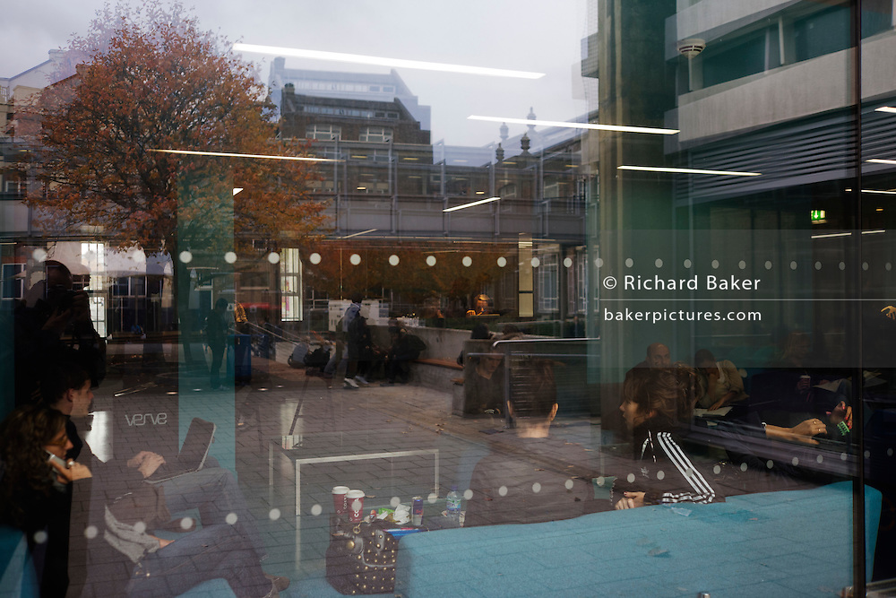 Communal leisure area at London Metropolitan University's Holloway Road campus.