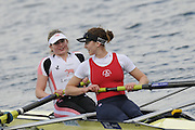 Eton, United Kingdom.    GBR W2-. Bow, Emily TAYLOR and Olivia WHITLAM,  after the final of the women's pair at the 2012 GB Rowing Trials, Dorney Lake. Near Windsor Berks Sunday  11/03/2012  [Mandatory Credit; Peter Spurrier/Intersport-images]