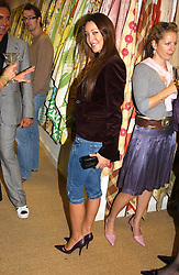 TAMARA MELLON at a party hosted by Kathryn Ireland held at her showroom at 65-69 Lots Road, London on 27th September 2005.<br /><br />NON EXCLUSIVE - WORLD RIGHTS