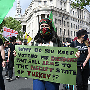 Brazilian, Kurdish and West Papua unite protest against fascism and colonialisation