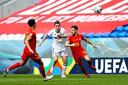 Bozhidar Kraev of Bulgaria and Tom Lockyer of Wales - Rogan/JMP - 06/09/2020 - FOOTBALL - Cardiff City Stadium - Cardiff, Wales - Wales v Bulgaria - UEFA Nations League Group B4.
