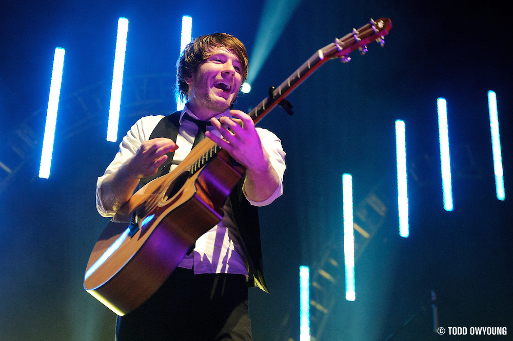 Adam Young - AKA Owl City - performing at the Pageant in St. Louis on the closing concert of their five-month tour on May 5, 2010.