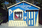 A colorful clothing shop in the tiny island village of Alice Town, Bimini, Bahamas