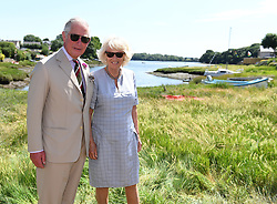 The Prince of Wales and The Duchess of Cornwall visit the Cleddau estuary community of Llangwm in Pembrokeshire, Wales, UK, on the 3rd July 2018. 03 Jul 2018 Pictured: The Prince of Wales and The Duchess of Cornwall visit the Cleddau estuary community of Llangwm in Pembrokeshire, Wales, UK, on the 3rd July 2018. Photo credit: James Whatling / MEGA TheMegaAgency.com +1 888 505 6342