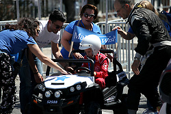 June 1, 2018 - Athens, Attica, Greece - Greek 'Make a Wish' supports a boy's dream to participate to the rally. The 2018 World Rally Championship Acropolis Rally ceremonial start under the Parthenon monument in Athens, Greece on June 1, 2018. (Credit Image: © Giorgos Georgiou/NurPhoto via ZUMA Press)