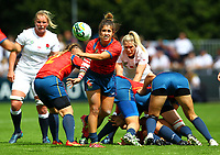 Rugby Union - 2017 Women's Rugby World Cup (WRWC) - Pool B: England vs. Spain<br /> <br /> Spain's Anne Fernandez de Corres in action, at The UCD Bowl, Dublin.<br /> <br /> COLORSPORT/KEN SUTTON