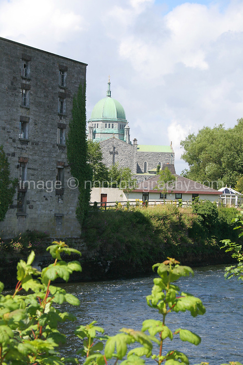 View of Galway Cathedral from the banks of the Corrib River