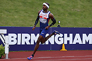 Delano Williams competing in the Men's 400m race heats. The British Championships 2016, athletics event at the Alexander Stadium in Birmingham, Midlands  on Saturday 25th June 2016.<br /> pic by John Patrick Fletcher, Andrew Orchard sports photography.