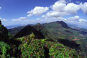 Summit of Lanipo Trail, Koolau Mountains, Oahu, Hawaii<br />