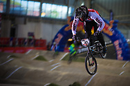 #30 (LAUSTSEN Niclas) DEN at the 2014 UCI BMX Supercross World Cup in Manchester.