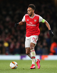Pierre-Emerick Aubameyang of Arsenal on the ball - Mandatory by-line: Arron Gent/JMP - 27/02/2020 - FOOTBALL - Emirates Stadium - London, England - Arsenal v Olympiacos - UEFA Europa League Round of 32 second leg