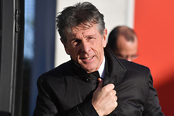 Leicester City manager Claude Puel arrives