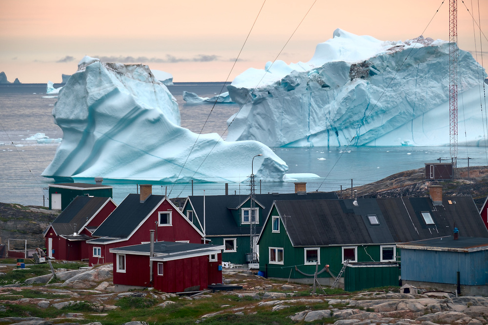 How large can icebergs be?<br /> In the Northern Hemisphere, the largest iceberg on record was encountered in 1882 near Baffin Island. It was 13 km long, 6 km wide, and was about 20 m above water. It weighed over 9 billion tonnes – enough for everyone in the world to drink a litre of water a day for more than 4 years.