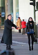 MADRID, SPAIN, 2015, DECEMBER 15 <br /> <br /> Alec Baldwin, a great lover of Spain, visiting Madrid for Christmas to do some shopping and enjoy the city, with his wife Hilaria and their two children, Carmen and Rafael<br /> ©Exclusivepix Media