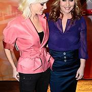 NLD/Amsterdam/20100202 - Perspresentatie X-Factor 2010, Stacey Rookhuizen en Angela Groothuizen