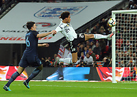 Football - 2017 / 2018 International Friendly - England vs. Germany<br /> <br /> Reroy Sane of Germany and Harry Maguire of England, at Wembley Stadium.<br /> <br /> COLORSPORT/ANDREW COWIE