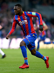 """Crystal Palace's Christian Benteke during the Premier League match at Selhurst Park, London. PRESS ASSOCIATION Photo. Picture date: Saturday January 13, 2018. See PA story SOCCER Palace. Photo credit should read: Daniel Hambury/PA Wire. RESTRICTIONS: EDITORIAL USE ONLY No use with unauthorised audio, video, data, fixture lists, club/league logos or """"live"""" services. Online in-match use limited to 75 images, no video emulation. No use in betting, games or single club/league/player publications"""
