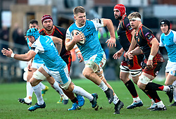 Olly Cracknell of Ospreys<br /> <br /> Photographer Simon King/Replay Images<br /> <br /> Guinness PRO14 Round 12 - Dragons v Ospreys - Sunday 30th December 2018 - Rodney Parade - Newport<br /> <br /> World Copyright © Replay Images . All rights reserved. info@replayimages.co.uk - http://replayimages.co.uk