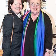 NLD/Hilversum/20190311  - Uitreiking Buma Awards 2019, Astrid Nijgh en partner Louise Schmidt