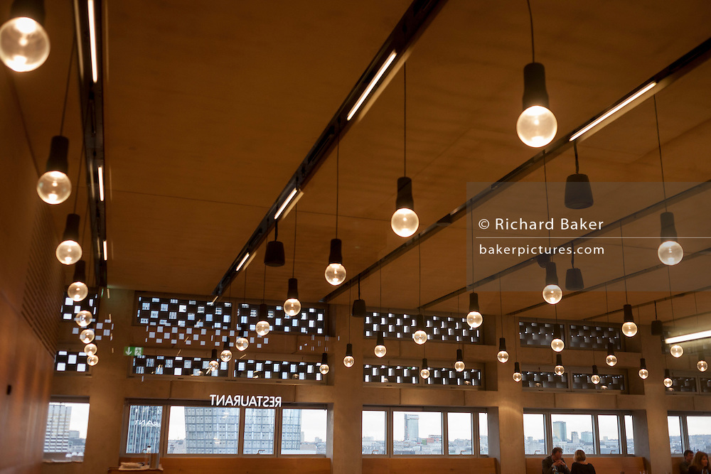 Ceiling design at the restaurant in Tate Modern art gallery, on 13th January 2017 in London, England.