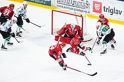 JEZOVSEK Zan vs KOGOVSEK Ziga during Alps League Ice Hockey match between HDD SIJ Jesenice and HK SZ Olimpija on March 2, 2020 in Ice Arena Podmezakla, Jesenice, Slovenia. Photo by Peter Podobnik / Sportida