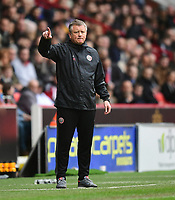 Sheffield United manager Chris Wilder shouts instructions to his team from the dug-out<br /> <br /> Photographer Chris Vaughan/CameraSport<br /> <br /> The EFL Sky Bet League One - Sheffield United v Charlton Athletic - Saturday 18th March 2017 - Bramall Lane - Sheffield<br /> <br /> World Copyright © 2017 CameraSport. All rights reserved. 43 Linden Ave. Countesthorpe. Leicester. England. LE8 5PG - Tel: +44 (0) 116 277 4147 - admin@camerasport.com - www.camerasport.com