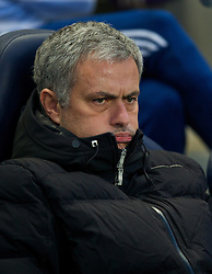 15.02.2014, Etihad Stadion, Manchester, ESP, FA Cup, Manchester City vs FC Chelsea, Achtelfinale, im Bild Chelsea's manager Jose Mourinho // during the English FA Cup Round of last 16 Match between Manchester City and FC Chelsea at the Etihad Stadion in Manchester, Great Britain on 2014/02/15. EXPA Pictures © 2014, PhotoCredit: EXPA/ Propagandaphoto/ David Rawcliffe<br /> <br /> *****ATTENTION - OUT of ENG, GBR*****