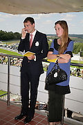 Ben and Kate Goldsmith, Glorious Goodwood. 31 July 2007.  -DO NOT ARCHIVE-© Copyright Photograph by Dafydd Jones. 248 Clapham Rd. London SW9 0PZ. Tel 0207 820 0771. www.dafjones.com.