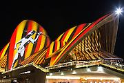 View of Sydney Opera House during Vivid Sydney 2016