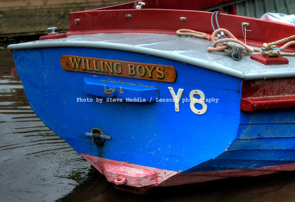 'Willing Boys' Name on Plaque of Small Boat - July 2009
