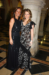Left to right, chairman of the ball LOULA CHANDRIS and her daughter MISS MARIETTA CHANDRIS at The Magic of Winter ball in aid of the charity KIDS held at The Royal Courts of Justice, London on 2nd Ferbruary 2005.<br />
