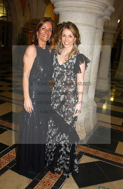 Left to right, chairman of the ball LOULA CHANDRIS and her daughter MISS MARIETTA CHANDRIS at The Magic of Winter ball in aid of the charity KIDS held at The Royal Courts of Justice, London on 2nd Ferbruary 2005.<br /><br />NON EXCLUSIVE - WORLD RIGHTS