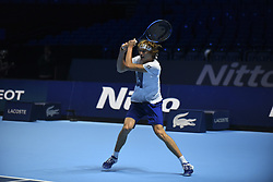 November 11, 2017 - London, United Kingdom - Alexander Zverev of Germany is pictured during a training session prior to the Nitto ATP World Tour Finals at O2 Arena, London on November 10, 2017. (Credit Image: © Alberto Pezzali/NurPhoto via ZUMA Press)