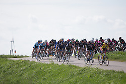 Marianne Vos (NED) of WM3 Pro Cycling Team stays at the front in the first lap the Omloop van Borsele - a 107.1 km road race, starting and finishing in s'-Heerenhoek on April 22, 2017, in Borsele, the Netherlands.