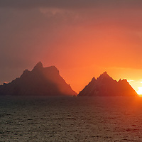 Fiery Skellig Sunset, County Kerry, Ireland ****** <br /> <br /> Visit & browse through my Photography & Art Gallery, located on the Wild Atlantic Way & Skellig Ring between Waterville and Ballinskelligs (Skellig Coast R567), only 3 minutes from the main Ring of Kerry road.<br /> https://goo.gl/maps/syg6bd3KQtw<br /> <br /> ******<br /> <br /> Contact: 085 7803273 from an Irish mobile phone or +353 85 7803273 from an international mobile phone