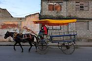 Coche de caballos in Manzanillo, Granma, Cuba.