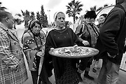 """Israel, Netivot (founded 1956) Sephardi Jewish pilgrims, who come to pray at the tomb of Rabbi Yisrael Abuhatzeira, a Moroccan-born tzaddik and kabbalist known as the """"Baba Sali"""" (died 1984)"""
