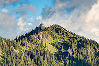 One of the many incredibly beautiful subalpine mountain peaks seen from Hurricane Ridge in Washington's Olympic Mountains.