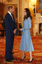 The Duke and Duchess of Cambridge attend a reception on World Mental Health Day at Buckingham Palace, London, to celebrate the contribution of those working in the mental health sector across the UK.