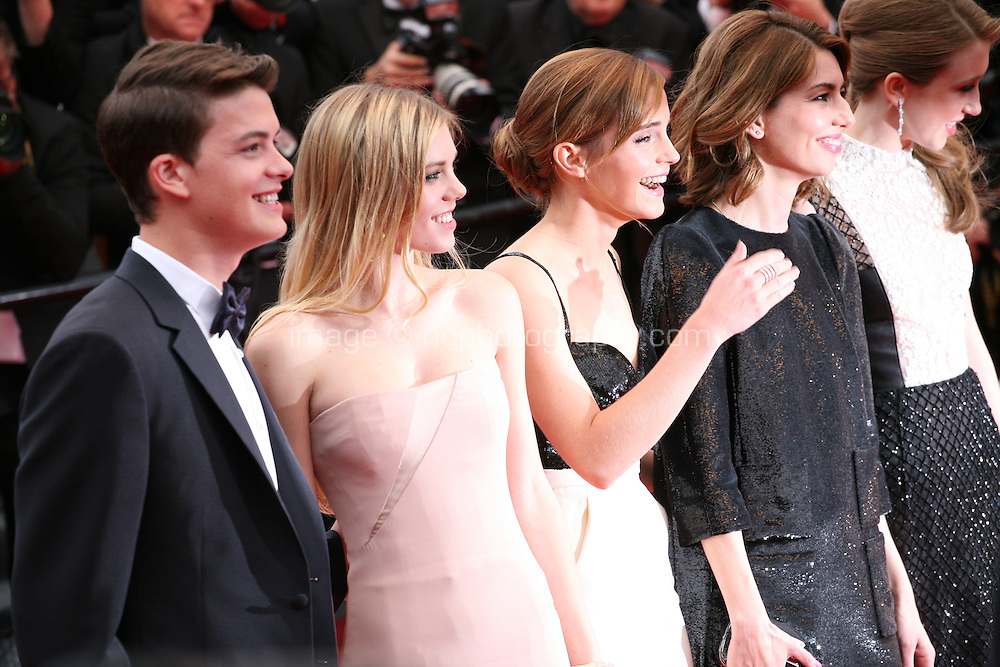 Israel Broussard, Claire Julien, Emma Watson, Sofia Coppola, Taissa Fariga, at the gala screening of Jeune & Jolie at the 2013 Cannes Film Festival 16th May 2013