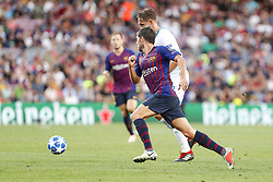 September 18, 2018 - Barcelona, Catalonia, Spain - FC Barcelona midfielder Sergi Roberto (20) during the UEFA Champions League match between FC Barcelona and PSV Eindhoven at Camp Nou Stadium corresponding of matchday 1, group B on September 18, 2018 in Barcelona, Spain. (Credit Image: © Mikel Trigueros/NurPhoto/ZUMA Press)