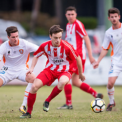 BRISBANE, AUSTRALIA - SEPTEMBER 9: During a Hyundai A-League Pre-Season match between Brisbane Roar and the Chinese Olympic FC on September 9, 2017 in Brisbane, Australia. (Photo by Brisbane Roar / Patrick Kearney)