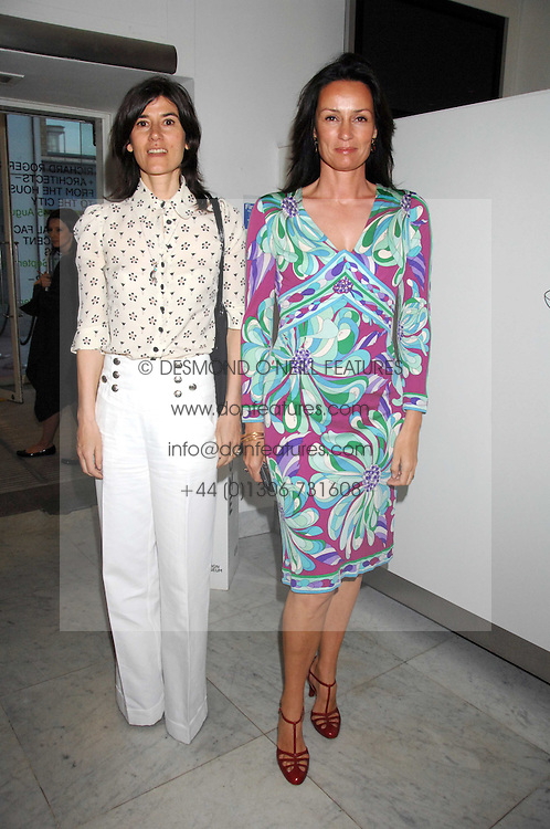 Left to right, BELLA FREUD and TRICIA SIMONON at a reception hosted by Vogue magazine to launch photographer Tim Walker's book 'Pictures' sponsored by Nude, held at The Design Museum, Shad Thames, London SE1 on 8th May 2008.<br /><br />NON EXCLUSIVE - WORLD RIGHTS