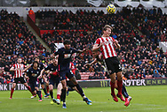 Sander Berge of Sheffield Utd heads the ball during the Premier League match at Bramall Lane, Sheffield. Picture date: 9th February 2020. Picture credit should read: Chloe Hudson/Sportimage
