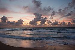 spectacular sunrise over the Atlantic Ocean in Fort Lauderdale, Florida