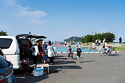 skateboarding area at Umikaze park, Yokosuka